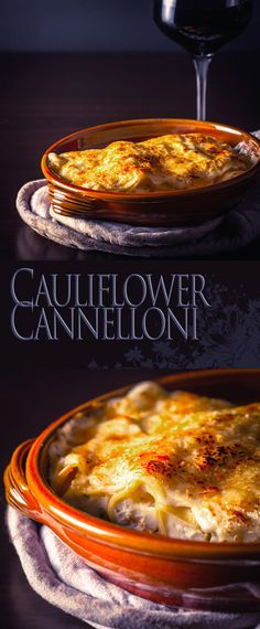 Baked Cauliflower Cannelloni Recipe: This baked cauliflower cannelloni is a perfect winter warmer, a beautiful cauliflower and ricotta cheese puree baked to perfection with a bechamel sauce. Pasta Recipes, Real Food Recipes, Vegetarian Recipes, Dinner Recipes, Cooking Recipes, Healthy Recipes, Delicious Recipes, Vegetarian Dinners, Baked Cauliflower