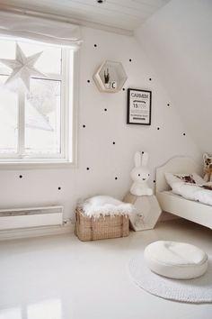 Ev minimalist beyaz çocuk, bezelye Duvar | Beyaz ...  http://www.bebekleralemi.com/ev-minimalist-beyaz-cocuk-bezelye-duvar-beyaz/