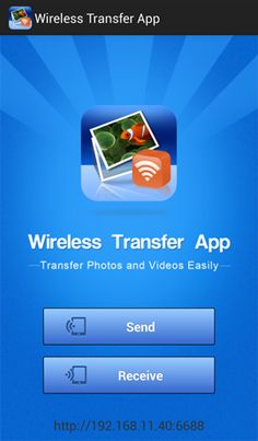 With WiFi Transfer you can transfer photos between Android devices, iPhone / iPad /iPod and computers via WiFi. You can send photos from one Android device to another as well as iPhone / iPad wirelessly.
