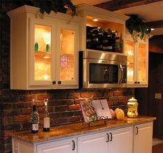 Kitchen Makeover Ideas With Brick on brick pattern backsplash, brick style backsplash, brick paver backsplash,