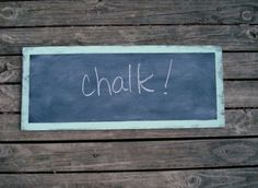 Chalkboard Shabby and Distressed  Sea Glass Mint by messymimi