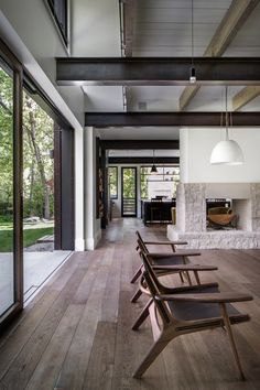 A Colorado Home Puts a Modern Twist on Farmhouse Living - Photo 7 of 11 - The chairs pictured above are from Room and Board.