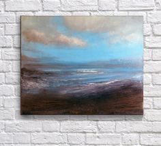 Print reproduction of original painting seascape by by tegafineart