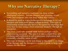 narrative therapy - Google Search