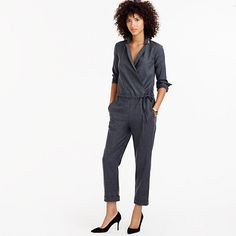 "A girl-meets-boy jumpsuit inspired by the timeless tuxedo blazer. Crafted from a soft wool blend, this piece features tailored lapels, front and back pockets and a pretty polka-dot lining we like to call ""interior design,"" or those little details we don't have to spend time creating, but we do... <ul><li>25"" inseam.</li><li>Wool/poly/elastane.</li><li>Front slant, back welt pockets.</li><li>Partially lined.</li><li>Dry clean.</li><li>Import.</li></ul>"