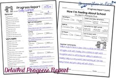 Digital and/or Printable (pen & paper) Progress Report FREEBIE