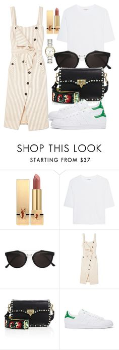 """Untitled #5133"" by beatrizvilar on Polyvore featuring Yves Saint Laurent, Cotton Citizen, RetroSuperFuture, Altuzarra, Valentino, adidas Originals and Burberry"