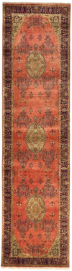 Handmade Indian Luxury Runner Rug - 3' x 11'8""