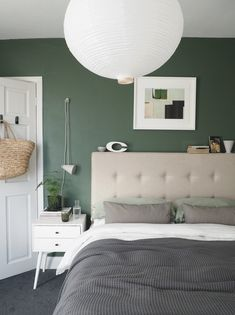My Scandi-style living room makeover – painted white floors and light grey walls - cate st hill with grey walls A simple, soothing, botanical green bedroom makeover - the reveal! Forest Green Bedrooms, Bedroom Green, Bedroom Decor, Bedroom Ideas, Minimalist Outdoor Furniture, Küchen Design, Interior Design, Cover Design, Graphic Design