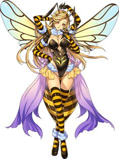 Character Inspiration, Character Art, Character Design, Male Bee, Bee Illustration, Anime Monsters, Monster Musume, Bee Art, Chica Anime Manga