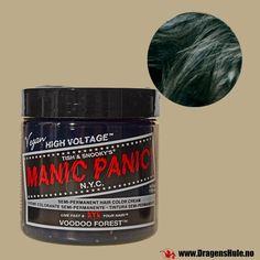 Hårfarge: Voodoo Forest Classic -Manic Panic fra DragensHule. Om denne nettbutikken: http://nettbutikknytt.no/dragens-hule-no/