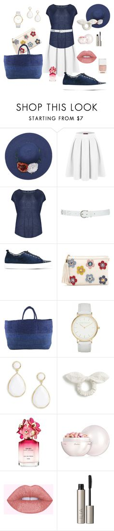 """Summer Denim"" by lheier on Polyvore featuring Doublju, Samya, M&Co, Lanvin, Far + Wide Collective, Laura Ashley, Trina Turk, J.Crew, Marc Jacobs and Guerlain"