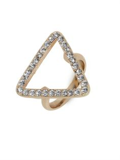 Try this new spin on cocktail attire for your digits: add a healthy dose of pave crystals and you've got a not-so-average cocktail ring that is sure to turn heads.