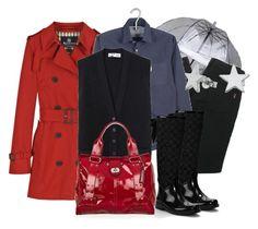 Días de Lluvia by outfits-de-moda2 on Polyvore featuring moda, Pringle of Scotland, Aquascutum, BELLEROSE, D&G, Coach, Alexander McQueen and Meadowlark
