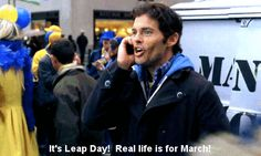 Leap Day doesn't show up on the calendar very often — only once every four years, in fact — but when it does, the Internet likes to celebrate. Obviously, that means by passing around an abundance of 30 Rock Leap Day memes, and gleefully singing out… Leap Day William, Leap Day Quotes, Gif Library, Happy Leap Day, James Marsden, Rock Quotes, Are You Not Entertained, 30 Rock