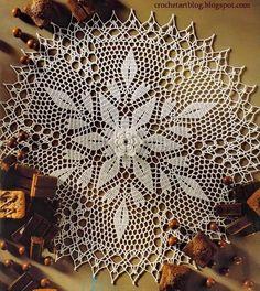 Crochet lace doily Pattern