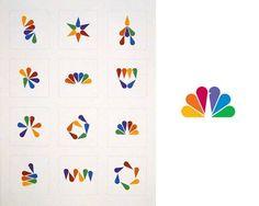 NBC logo tangram - what happens if you disassemble a familiar logo