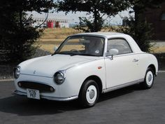 NISSAN FIGARO 1.0 CONVERTIBLE * IDEAL WEDDING CAR * PEARL WHITE £4999 www.thecarwarehouse.co.uk