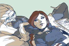 """wei723:    """"Are you sleeping, Garrus?"""""""