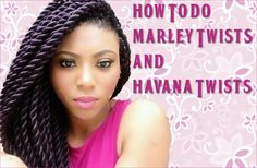 How To Do Marley Twists And Havana Twists  Read the article here - http://www.blackhairinformation.com/general-articles/hairstyles-general-articles/marley-twists-havana-twists/ #havanatwists #marleytwists #protectivestyles