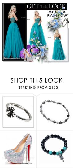"""""""Sherri Hill 51438 Beaded Organza Strapless Homecoming Dress"""" by evermissjody ❤ liked on Polyvore featuring Chrome Hearts and Christian Louboutin"""