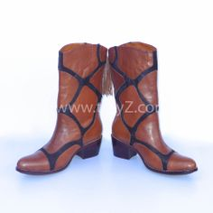 Giraffe- inspired leather boots www.tatyz.com/shop-online