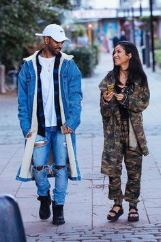 Big Sean wearing Fear of God Denim Shearling Coat, Fear of God Selvedge Denim Vintage Indigo Jeans, Timberland Lace Up Boots