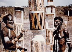 The carved and painted Pukumani poles throughout the forests of Bathurst and Melville Islands, the land of the Tiwi people, have inspired Australian collectors, curators and artists for a century.