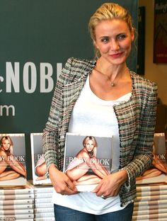Body beautiful: The actress was at Barnes and Noble in Paramus to promote her Body Book and to do a Q&A with fans