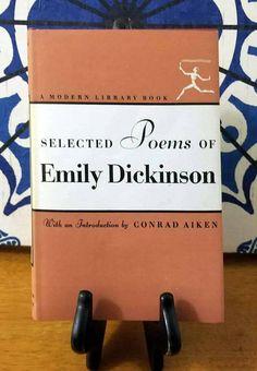 Emily Dickinson, Selected Poems of Emily Dickinson (1924) https://www.etsy.com/listing/542523008/emily-dickinson-selected-poems-of-emily