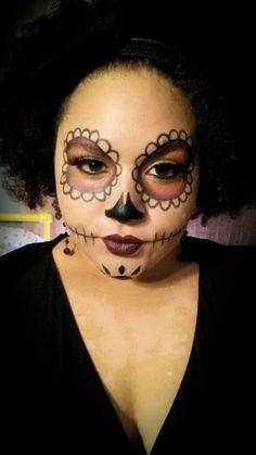 sugar skull makeup halloween dia de los muertos day of the dead ...