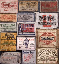 formfollowsfunctionjournal:    Vintage Workwear Labels