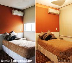 Um quarto do jeito que você quer: aconchegante e com muito conforto visual   Com cortinas, papel de parede, tapete e almofadas da Kyowa.  Solução completa em decoração é aqui: http://www.tapetesonline.com/