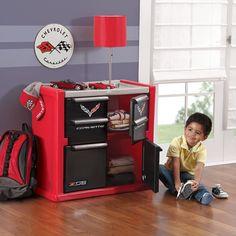 Corvette Dresser for Kids - Durable 4 Drawer Cabinet Organizer, Red/Black/Silver: Toys & Games Black Dressers, Kids Dressers, Boys Bedroom Decor, Baby Bedroom, Bedroom Ideas, Extra Storage Space, Storage Spaces, Kids Furniture, Furniture Decor