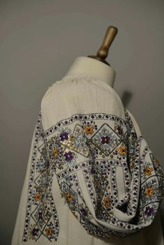 Russian Embroidery, Hand Embroidery Dress, Folk Embroidery, Folk Costume, Costumes, Homemade, Tops, Dresses, Women