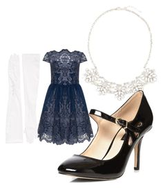 """New Year's Eve-Dark Blue and Silver"" by rachel-lesch on Polyvore featuring Carolina Amato, Old Navy and Dorothy Perkins"