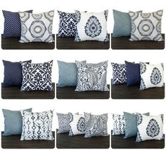 This listing is for one throw pillow cover in the gorgeous new Vintage Indigo Blue line printed printed on cotton decorator weight fabric. The colors in this line are Light gray-ish blue, navy blue, slate gray, light taupe/tan, and white. Navy Living Rooms, New Living Room, My New Room, Home And Living, Living Room Decor, Navy Blue And Grey Living Room, Purple Pillows, Grey Pillows, Owl Pillows