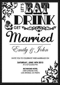Custom printable digital wedding invitation SET by yolipopdesignz, $30.00