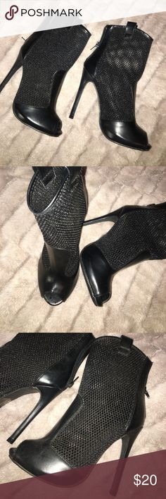 Mesh booties NIB‼️ purchased last yr but never worn 💙 Boohoo Shoes Ankle Boots & Booties