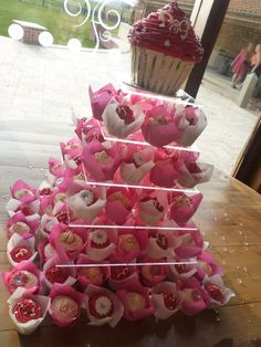 Wedding tower of cupcakes