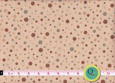Designer Fabric By the Yard Tan Dot Fabric Cream by QuiltingGarden, $7.49