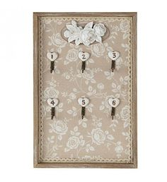 WOODEN_FABRIC WALL KEY HANGER IN BEIGE COLOR
