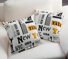 Kissenhüllen aus Dekostoff New York