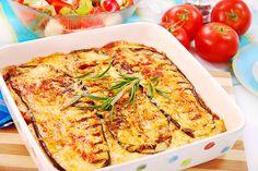 Receta de Berenjenas al horno con tomate y cebolla con bechamel