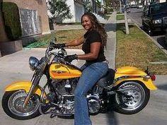 Biker Chick, Biker Girl, Plus Sise, Black Harley Davidson, Harley Bikes, Bike Rider, Hot Bikes, Black Women Art, Real Women