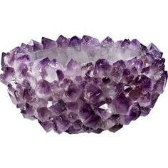 Rock Amethyst Bowl- this is so cool! Home Decor Accessories, Decorative Accessories, Purple Accessories, Crystals And Gemstones, Stones And Crystals, Gem Stones, Purple Bowls, Soul Stone, Jewelry Design Earrings