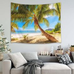 Discover the best beach themed tapestries and coastal wall tapestries. We love beach wall decor and tapestries are affordable and beautiful, which makes them a great option. Tree Tapestry, Tapestry Wall Hanging, Beach Wall Decor, Tropical Beaches, Season Colors, Home Decor Outlet, Beach Themes, Bed Covers, Picnic Blanket