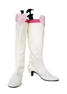 Sailor Moon Sailor Chibi Moon Chibiusa Cosplay Shoes Boots Custom Made White -- Click image for more details.