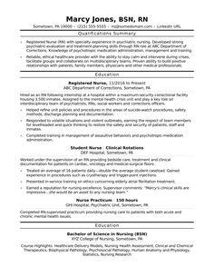 Sample resume for entry-level registered nurses (RN)