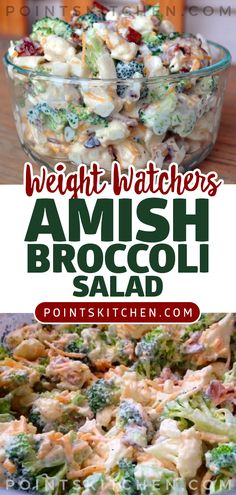 Amish Broccoli Salad… This is to die for… #amish #salad #broccoli #cheese #weightwatchers #weight_watchers #ketogenic #lowcarb #slimmingworld